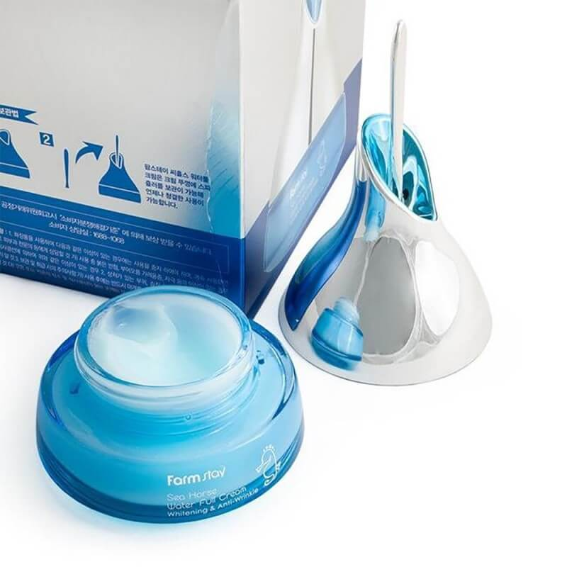Крем для лица увлажняющий с экстрактом морского конька FarmStay Sea Horse Water Full Cream 50мл