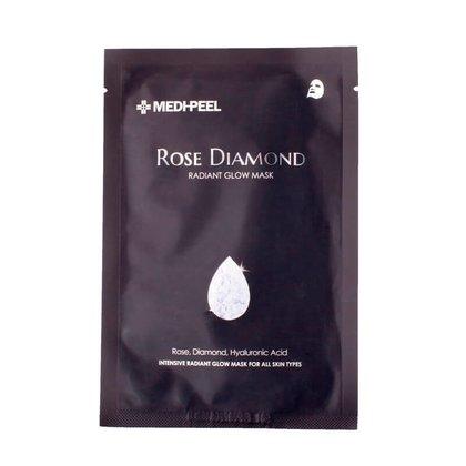 Тканевая маска с алмазной пудрой и розой MEDI-PEEL Rose Diamond Radiant Glow Mask, 25мл