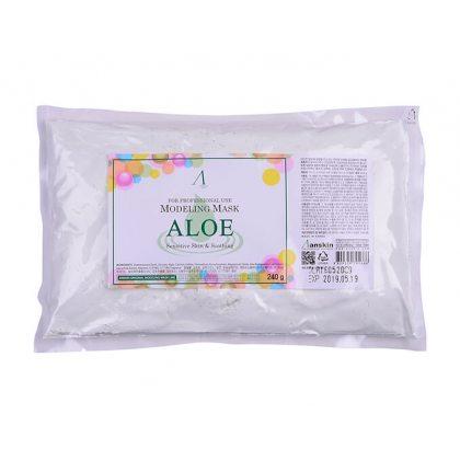 Маска альгинатная с алоэ успокаивающая Anskin Aloe Modeling Mask, 240г