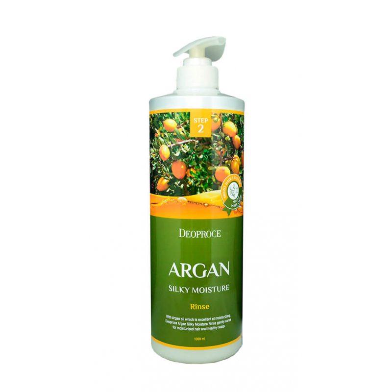 Бальзам для волос с маслом арганы Deoproce Rinse Argan Silky Moisture, 1000мл