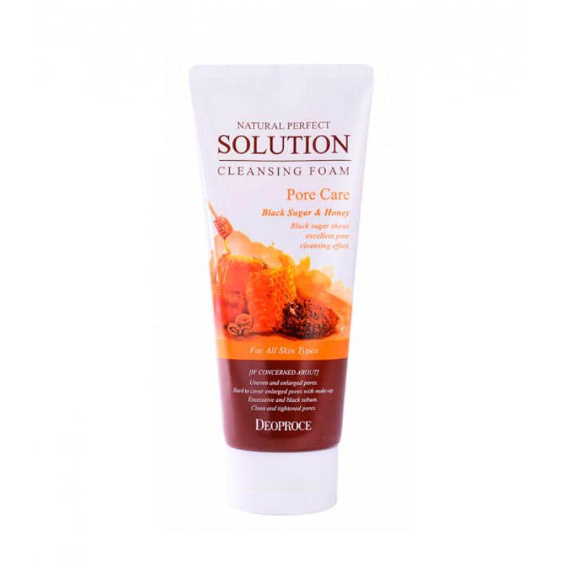 Пенка-скраб для умывания медовая Deoproce Natural Perfect Cleansing Foam Pore Care, 170г