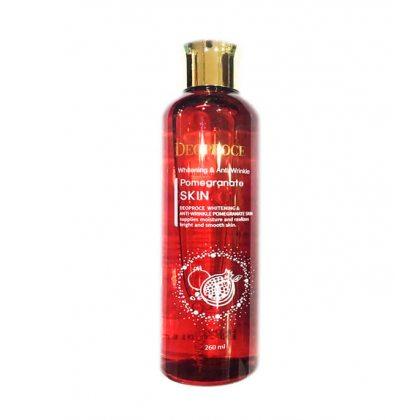 Тонер для лица антивозрастной с экстрактом граната Deoproce Whitening And Anti-Wrinkle Pomegranate Skin, 260мл