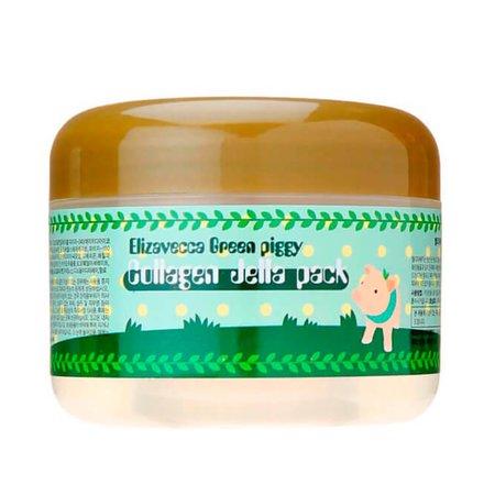 Маска для лица с коллагеном Elizavecca Green Piggy Collagen Jella Pack, 100г