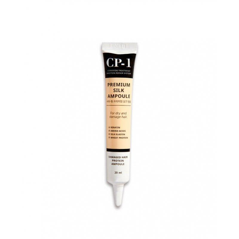 Несмываемая сыворотка для волос восстанавливающая с протеинами шелка ESTHETIC HOUSE CP-1 Premium Silk Ampoule, 20мл