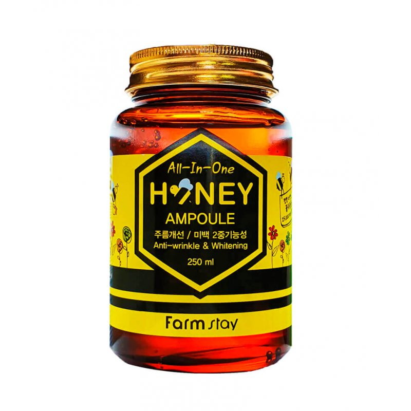 Многофункциональная ампульная сыворотка с медом FarmStay All In One Honey Ampoule, 250мл