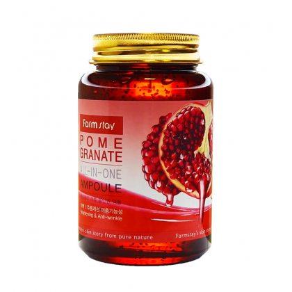 Многофункциональная ампульная сыворотка с экстрактом граната FarmStay Pomegranate All-In One Ampoule, 250мл