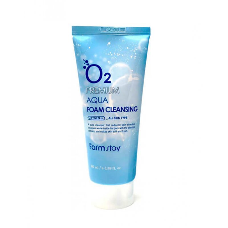Пенка для умывания с кислородом Farmstay O2 Premium Aqua Foam Cleansing, 100мл