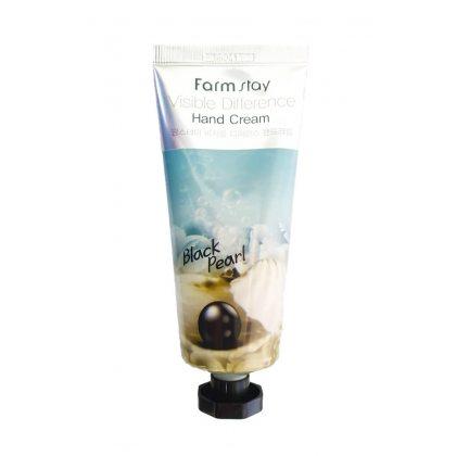 Крем для рук с черным жемчугом Farmstay Visible Difference Hand Cream Black Pearl, 100г