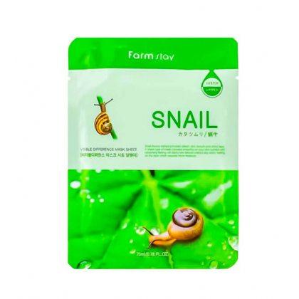 Маска тканевая для лица с муцином улитки Farmstay Visible Difference Mask Sheet Snail, 23мл