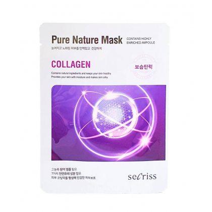 Маска тканевая для упругости кожи с коллагеном Anskin Secriss Pure Nature Collagen, 25мл