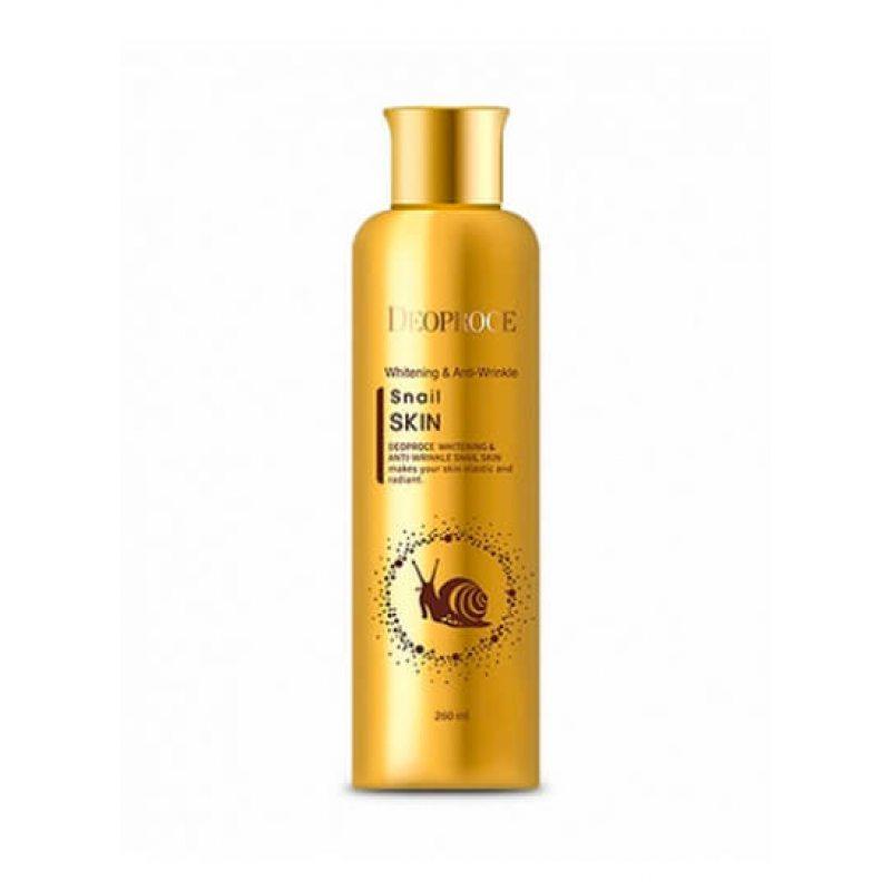 Флюид для лица с муцином улитки Deoproce Whitening And Anti-Wrinkle Snail Skin, 260мл