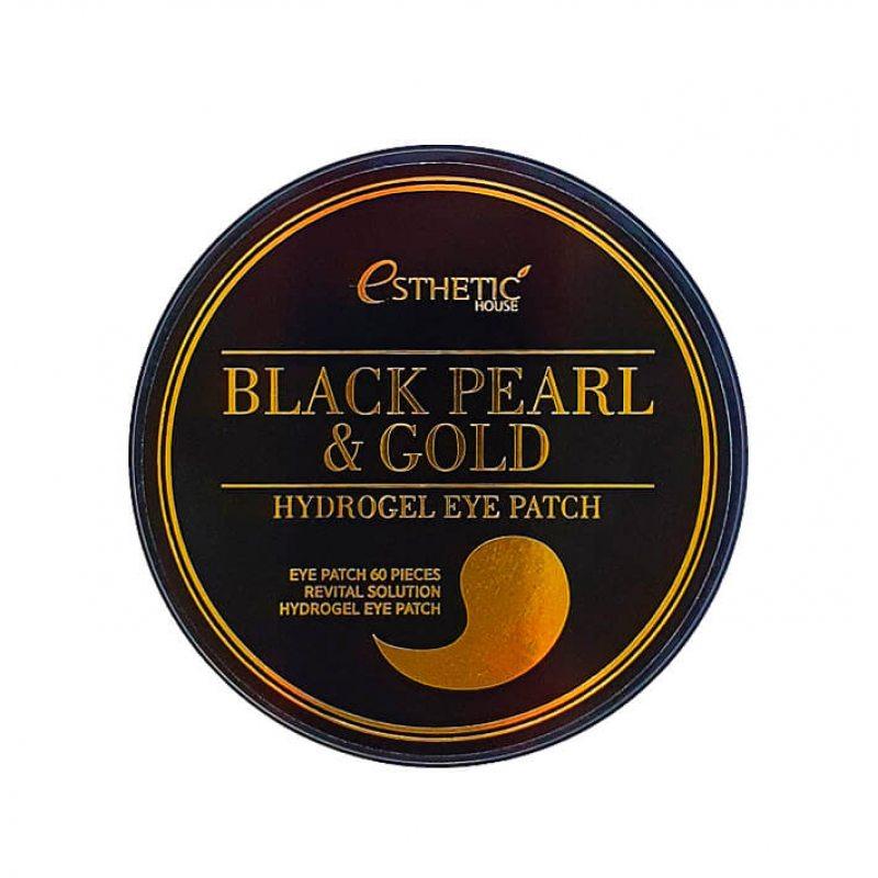 Гидрогелевые патчи для глаз с черным жемчугом и золотом ESTHETIC HOUSE black pearl & Gold, 60шт