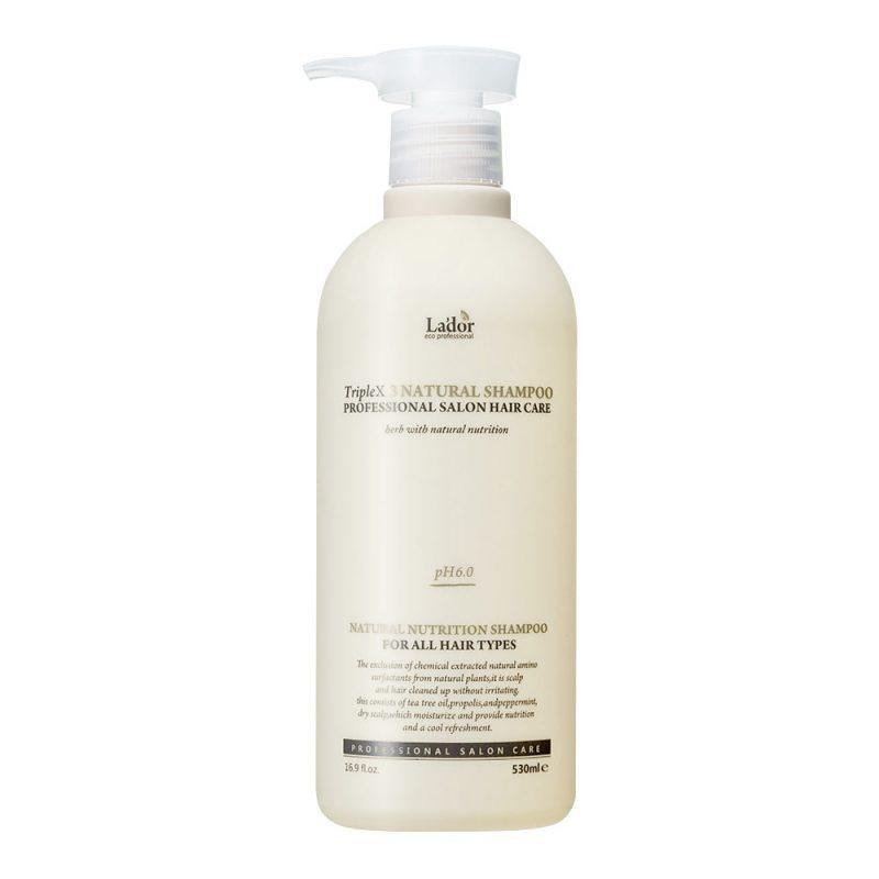 Шампунь бессульфатный органический La'dor Triple x3 Natural Shampoo, 530мл