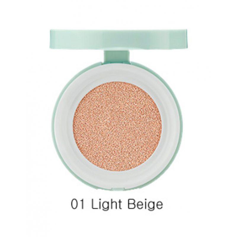 Тональный крем-кушон для маскировки пор The Saem Saemmul Perfect Pore Cushion Spf50+, 01 Light beige, 12г