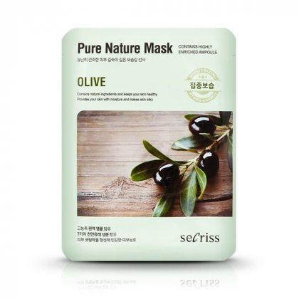 Маска тканевая с экстрактом оливы Anskin Secriss Pure Nature Olive, 25мл
