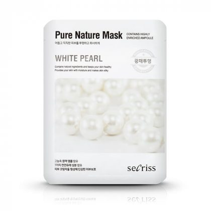 Маска тканевая с экстрактом жемчуга Anskin Secriss Pure Nature White Pearl, 25мл