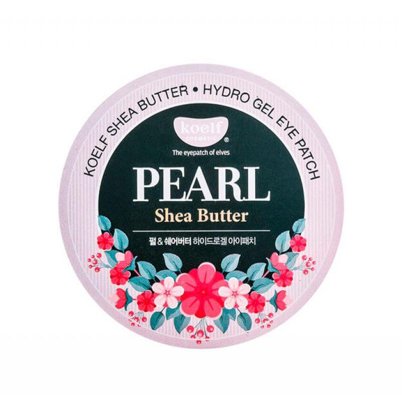 Гидрогелевые патчи для кожи вокруг глаз с жемчугом и маслом ши Koelf Pearl & Shea Butter Eye Patch, 60шт