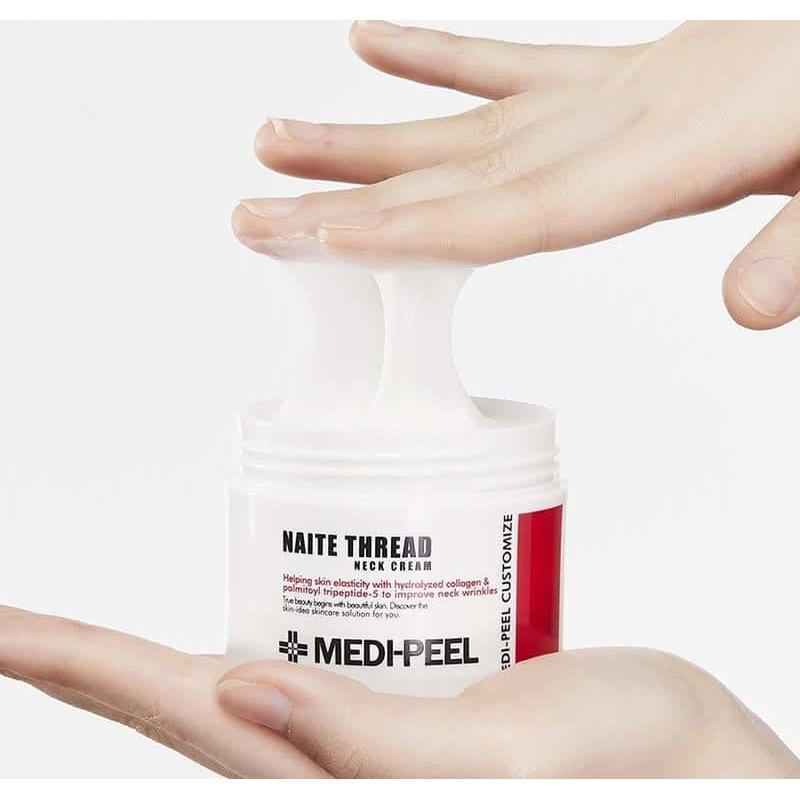 Моделирующий лифтинг-крем для шеи с пептидным комплексом MEDI-PEEL Naite Thread Neck Cream, 100мл + 3 Подарка