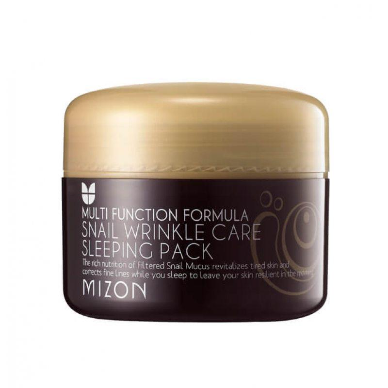 Ночная маска восстанавливающая c 50% муцином улитки MIZON Snail Wrinkle Care Sleeping Pack, 80мл
