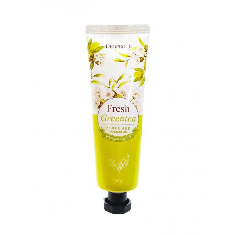 Крем для рук парфюмированный с экстрактом зелёного чая Deoproce Perfumed Hand Cream, 50г