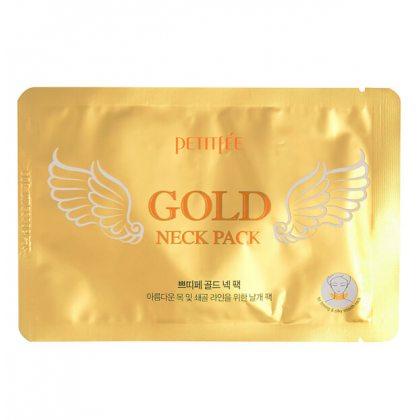 Гидрогелевая маска-патч для шеи с золотом Petitfee Gold Neck Pack, 10г
