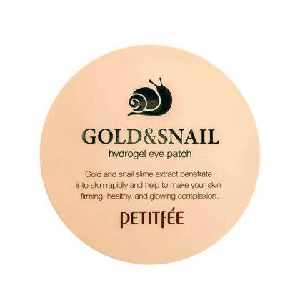 Гидрогелевые патчи для кожи вокруг глаз с золотом и муцином улитки Petitfee Gold & Snail Eye Patch, 60шт