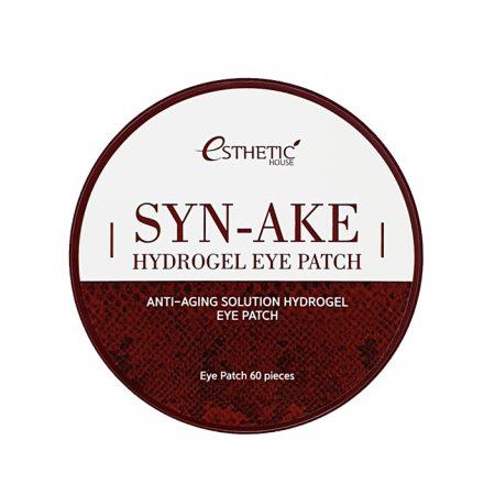 Гидрогелевые патчи для глаз антивозрастные со змеиным пептидом ESTHETIC HOUSE Syn-Ake Hydrogel Eyepatch, 60шт