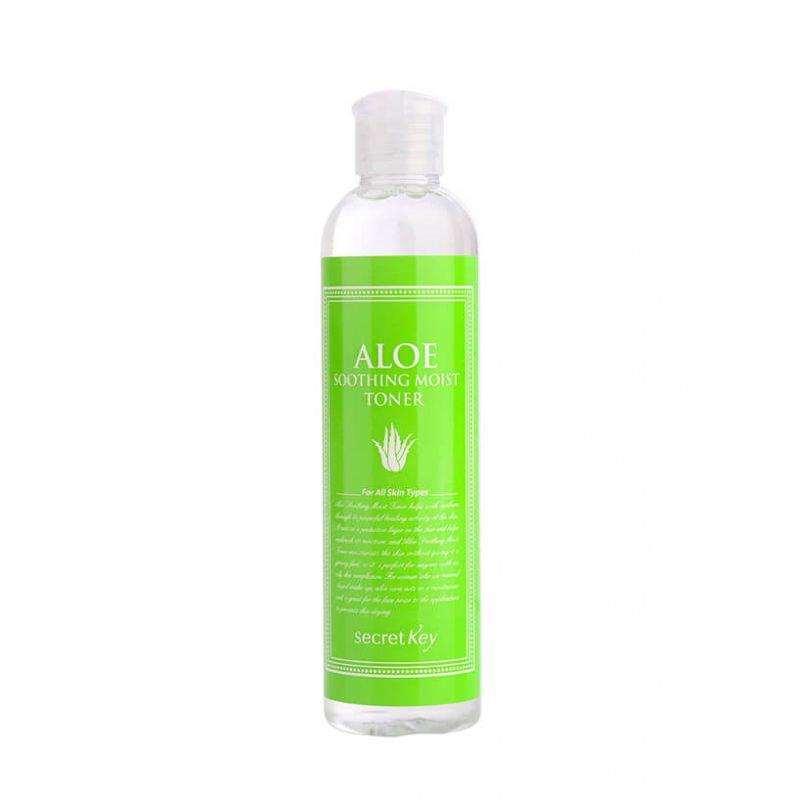 Тонер для лица увлажняющий с 98% экстрактом алоэ вера Secret Key Aloe Soothing Moist Toner, 248 мл