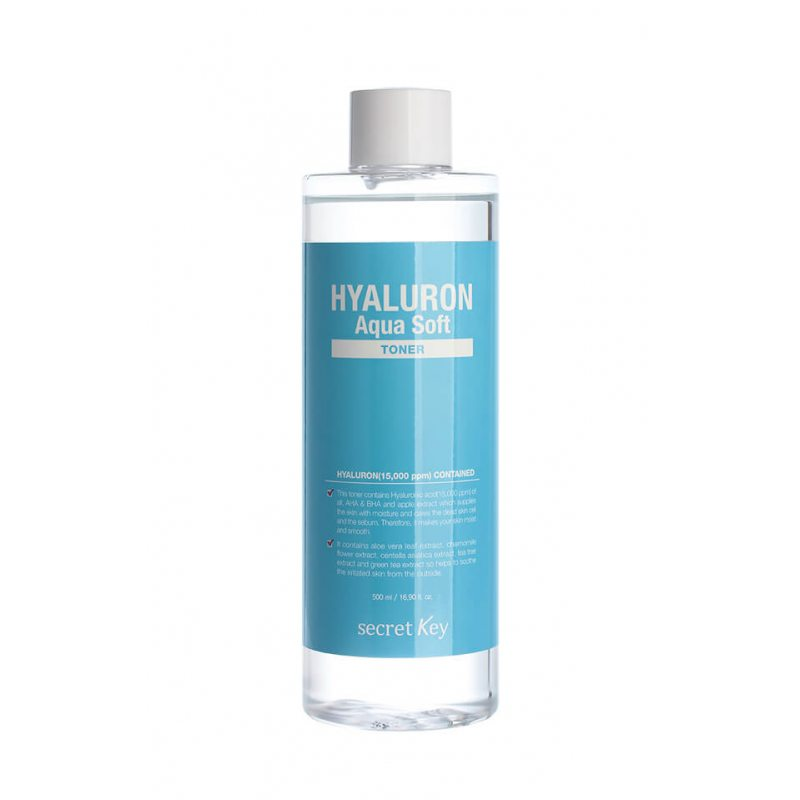 Тонер гиалуроновый Secret Key Hyaluron Aqua Soft Toner, 500мл