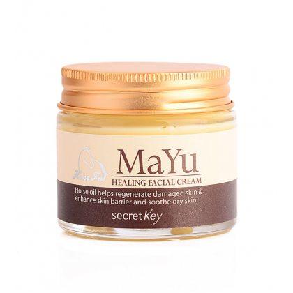 Крем для лица питательный с лошадиным жиром Secret Key MaYu Healing Facial Cream, 70г