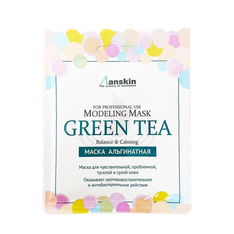 Маска альгинатная с экстрактом зеленого чая успокаивающая Anskin Green Tea Modeling Mask, 25г