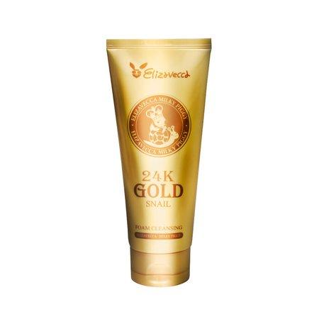 Пенка для умывания с золотом и муцином улитки Elizavecca 24k Gold Snail Cleansing Foam, 180мл