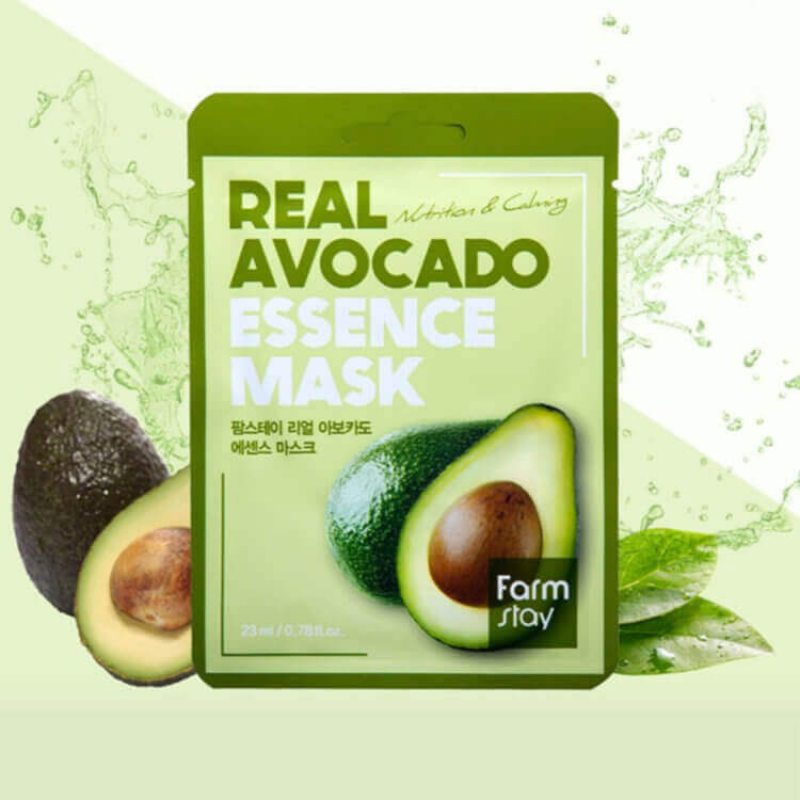 Маска тканевая для лица питательная с экстрактом авокадо Farmstay Visible Difference Avocado Mask Sheet, 23мл