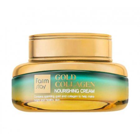 Крем питательный с золотом и коллагеном FarmStay Gold Collagen Nourishing Cream, 55мл
