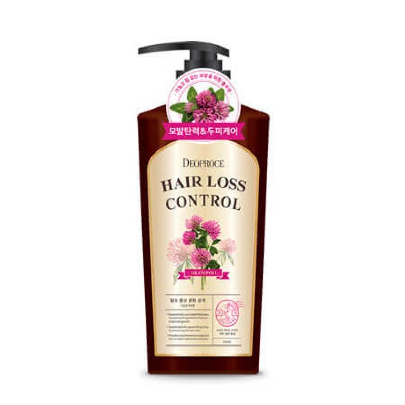 Шампунь с экстрактом клевера от выпадения волос Deoproce Hair Loss Control Shampoo, 510мл