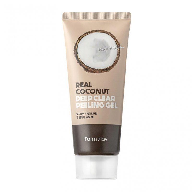Пилинг-гель для лица с экстрактом кокоса FarmStay Real Coconut Deep Clear Peeling Gel, 100мл