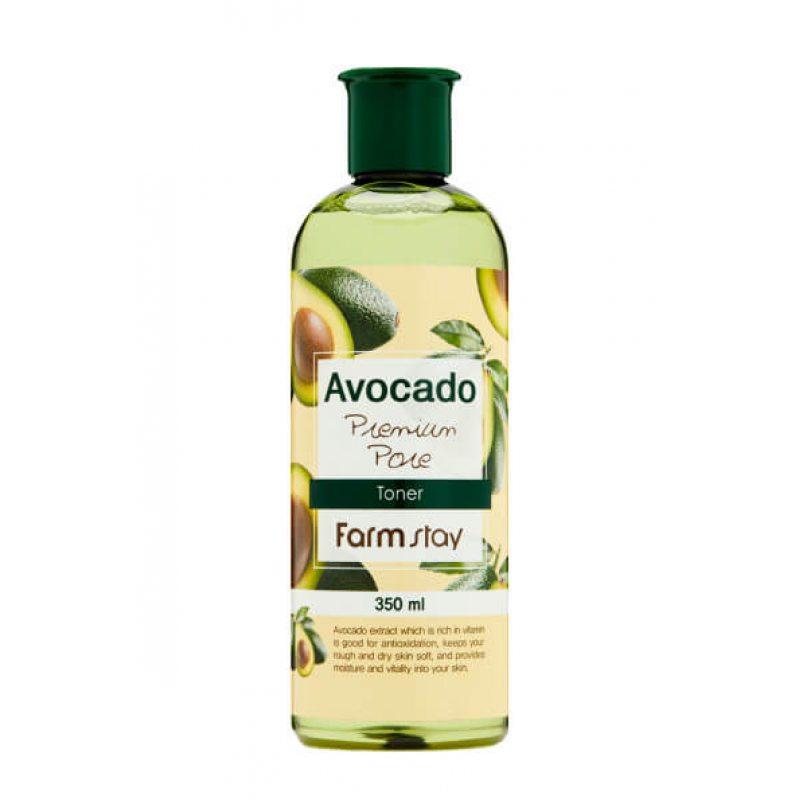 Тонер антивозрастной с экстрактом авокадо FarmStay Avocado Premium Pore Toner, 350мл