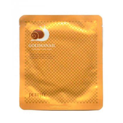 Гидрогелевая маска для лица с муцином улитки Petitfee Gold & Snail Hydrogel Mask Pack, 30г