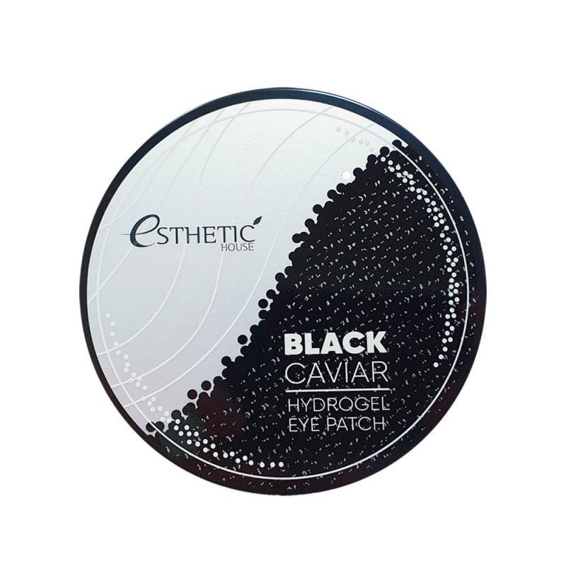 Гидрогелевые патчи для глаз с экстрактом чёрной икры ESTHETIC HOUSE Black Caviar Hydrogel Eyepatch, 60шт