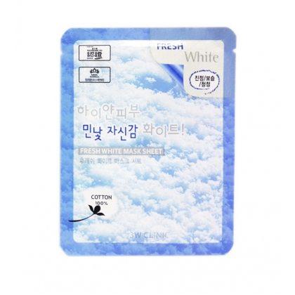 Маска тканевая для лица с ниацинамидом 3W Clinic Fresh Mask Sheet White, 23мл
