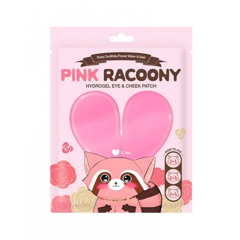 Патчи для глаз и скул Secret Key Pink Racoony Hydro-Gel Eye & Cheek Patch, 6шт