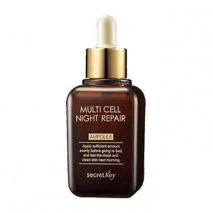 Сыворотка для лица ночная Secret Key Multi Cell Night Repair Ampoule, 50мл