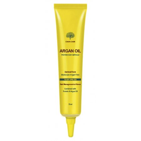 Сыворотка для волос с аргановым маслом Evas Char Char Argan Oil Protein Hair Ampoule, 15мл