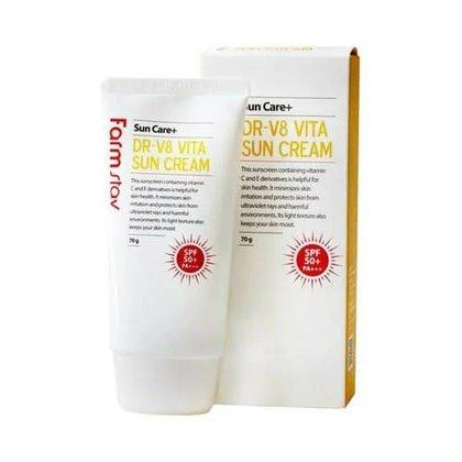 Солнцезащитный витаминизированный крем для лица с легкой текстурой FarmStay DR-V8 Vita Sun Cream, 70мл