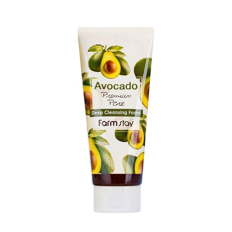 Пенка очищающая для лица FarmStay Avocado Premium Pore Deep Cleansing Foam, 180мл