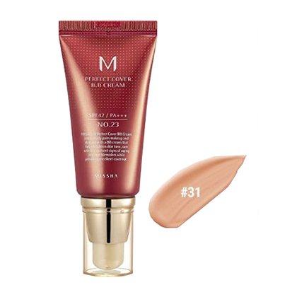BB-крем с максимальной кроющей способностью #31 Missha M Perfect Cover BB Cream #31 Golden Beige SPF42 PA+++, 50мл