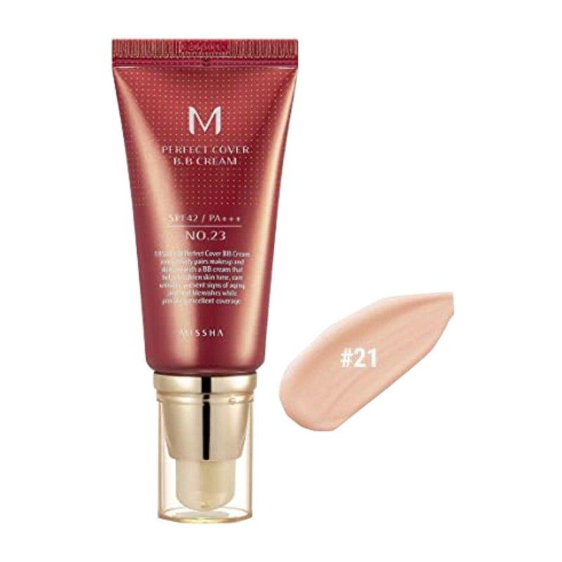 BB-крем с максимальной кроющей способностью #21 Missha M Perfect Cover BB Cream #21 Light Beige, 50мл