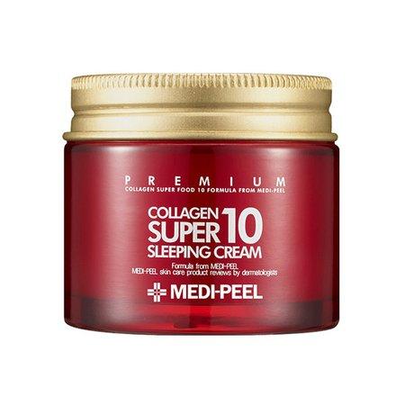 Ночной крем омолаживающий с коллагеном MEDI-PEEL Collagen Super 10 Sleeping Cream, 70мл