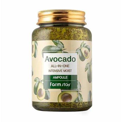 Многофункциональная ампульная сыворотка с экстрактом авокадо FarmStay Avocado All-In-One Intensive Moist Ampoule, 250мл