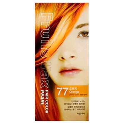 Краска для волос на фруктовой основе Welcos Fruits Wax Pearl Hair Color (77 Рыжий), 120мл